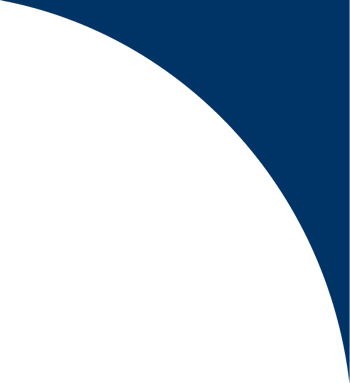 Dark blue semi circle